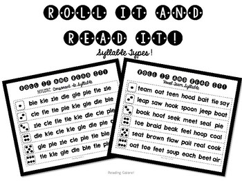 Roll and Read Syllable Types !