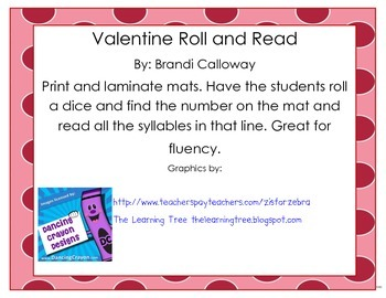 Roll and Read Syllables in Spanish