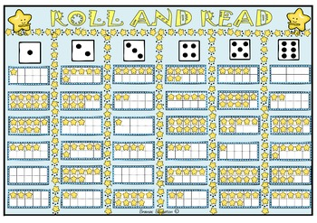 Roll and Read Ten Frames