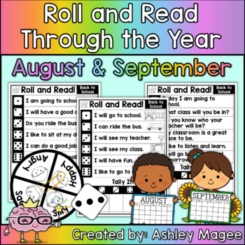 Roll and Read Through the Year: August and September Fluency Practice
