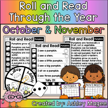 Roll and Read Through the Year Bundle - Monthly Fluency Practice