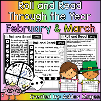 Roll and Read Through the Year: February and March Fluency Practice