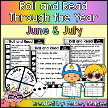 Roll and Read Through the Year: June and July Fluency Practice