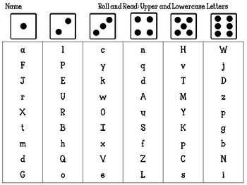 Roll and Read: Upper and Lowercase Alphabet