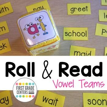 Roll and Read Vowel Teams ai, ay, ee, ea, oa, oo