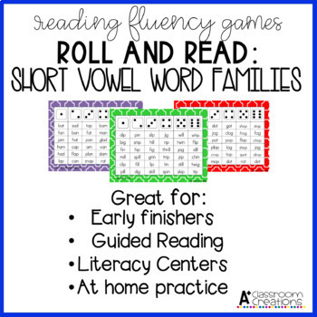 Roll and Read:  Word Families