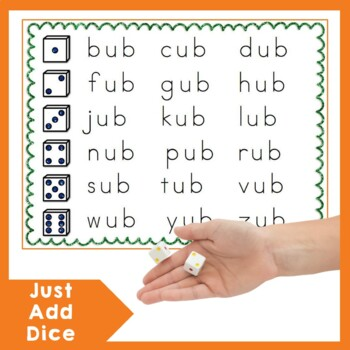 Roll and Read Word Families Activity
