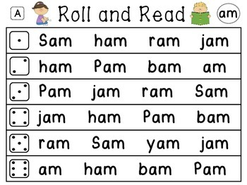 roll and read word families 120 differentiated ready to go literacy