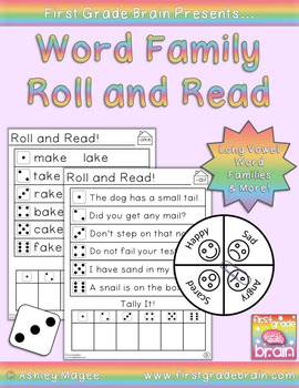 Roll and Read Word Families: Long Vowel Families and (More)!