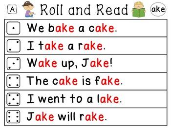 Long Vowels Reading Fluency Centers