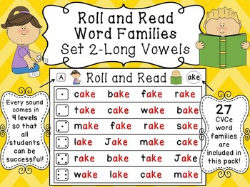 Long Vowels Reading Fluency Centers
