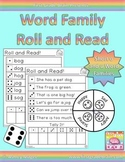 Roll and Read Word Families: Short O and U Families CVC Wo