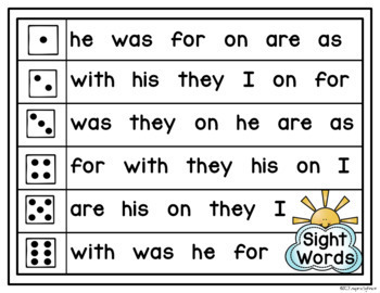 Roll and Read Word Fluency Mats (CVC Words, Digraphs, Fry Sight Words)