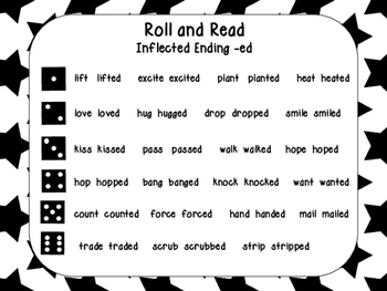 Roll and Read Words with Inflected Endings