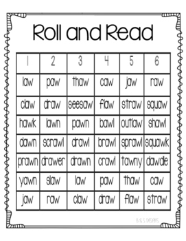 Roll and Read aw