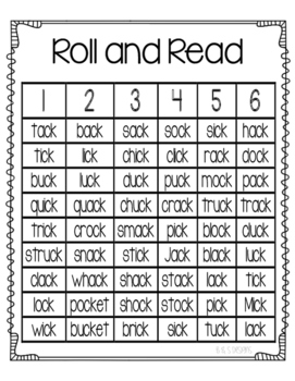 Roll and Read ck