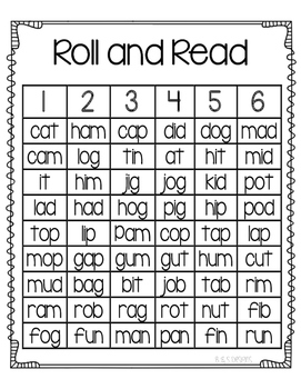 Roll and Read cvc set 1