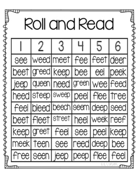 Roll and Read ee