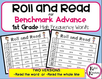 Roll and Read for 1st Grade Benchmark Advance High Frequency Words (Ca/Nat.)