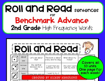 Roll and Read Sentences for 2nd Grade Benchmark Advance (Ca. and National)