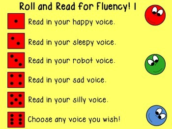 Roll and Read for Fluency 1