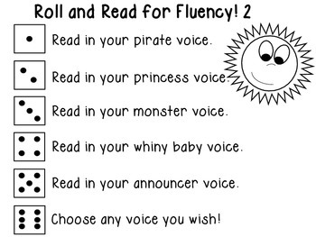 Roll and Read for Fluency 2