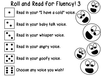 Roll and Read for Fluency 3