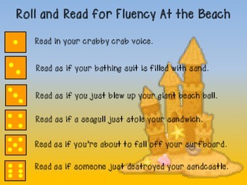 Roll and Read for Fluency At the Beach