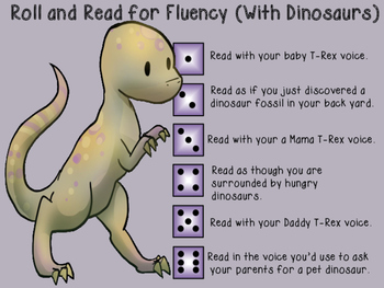 Roll and Read for Fluency with Dinosaurs