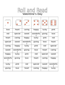 Roll and Read for Valentine's Day