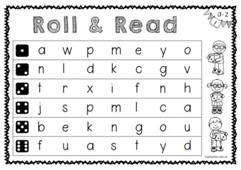 Roll and Read - letters and sounds