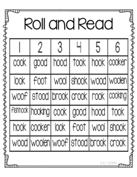 Roll and Read oo as in good