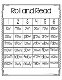 Roll and Read ow as in snow