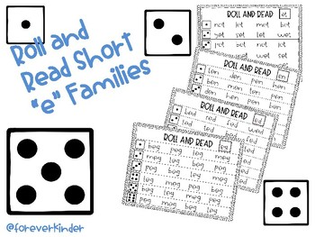 Roll and Read short e word families
