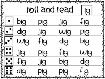 """Roll and Read Short """"i"""" Word Families"""