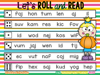 Autumn Roll and Read NWF RTI Resource