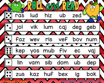 Back to School Nonsense Word Fluency R.T.I. Resource Pack