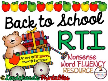 Nonsense Word Fluency Bundle by Ms. Lendahand (BACK to SCH