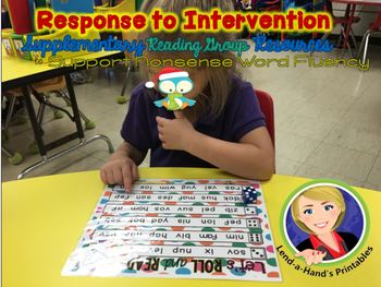 Christmas Nonsense Word Fluency Roll and Read with Ms. Lendahand