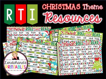 Roll and Read with CVC Words by Ms. Lendahand (Christmas Theme)