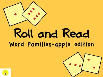 Roll and Read word families-apple edition