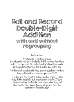 Roll and Record Double Addition
