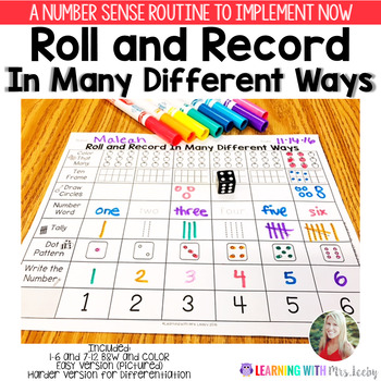 Roll and Record In Many Different Ways {Number Sense}
