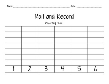 Roll and Record- Investigations