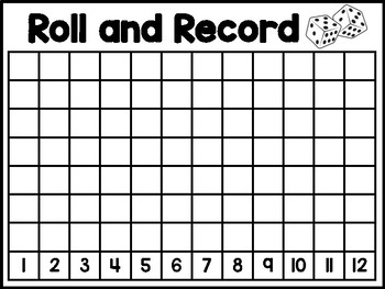 Roll and Record:  Math Addition Game