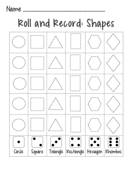 Roll and Record: Shapes