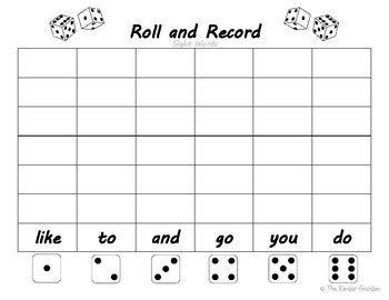 Roll and Record Sight Words