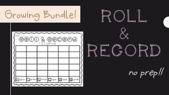 Roll and Record Spelling Words