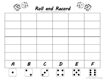 Roll and Record ~ Uppercase Alphabet
