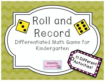 Roll and Record for Kindergarten (Differentiated)